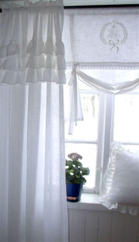 gardinen shabby vintage carol wei 223 vorhang gardine 120x240 volant landhaus shabby