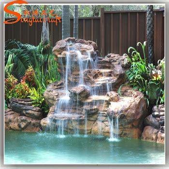 cascades de jardin deau en verre exterieure mur fontaine