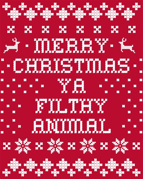 Merry Ya Filthy Animal Wallpaper - shirt woot