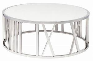 roman white stone coffee table hgtb309 nuevo With white and silver coffee table