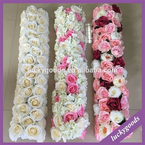 handmade wedding table runner flower arrangements