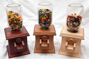 Hand-made Wooden Candy Dispenser M&M Peanut Skittles Snack