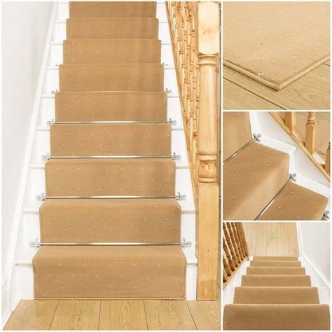 Rugs For Stairs Runners by Dotty Beige Stair Carpet Runner For Narrow Staircase