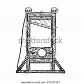 Guillotine Sketch Vector Illustration Isolated Background Shutterstock Pic Vectors Royalty sketch template