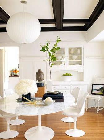 saarinen table oval modern dining room julian wass