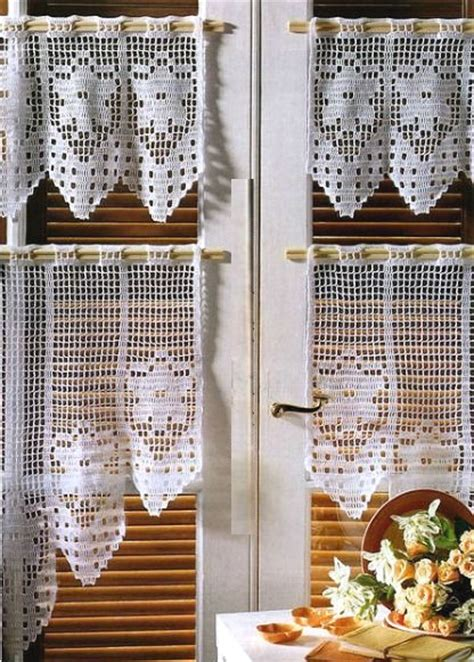 rideaux au crochet fait main patrons gratuits crochet