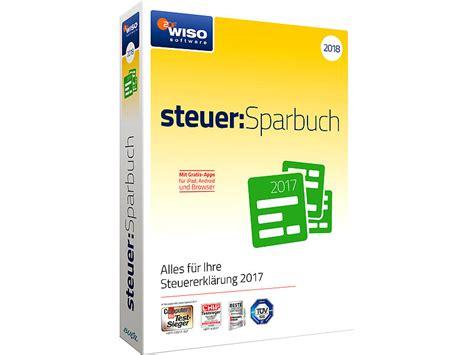 steuer 2018 software wiso steuerprogramm steuer sparbuch 2018 program