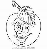 Coloring Emoji Symbol Clip Rockhound Uncolored Template Sketch Apple Drawing Cartoon Happy sketch template
