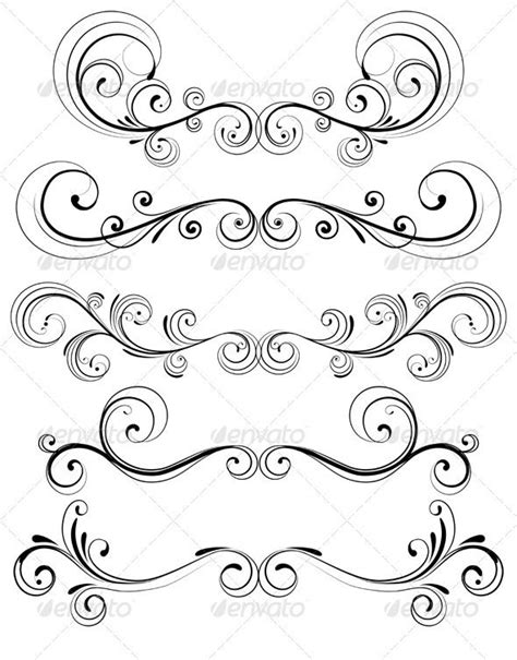 Floral Decorative Elements   Colorful drawings, Paper