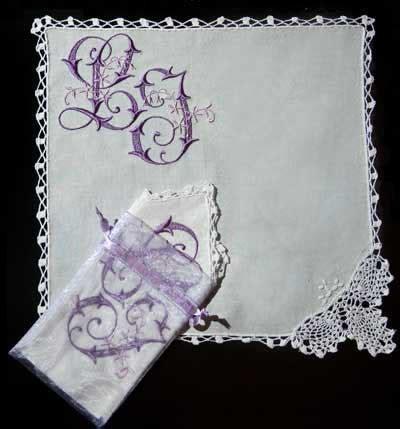 lace corner handkerchief