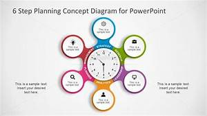 6 Step Planning Powerpoint Diagram