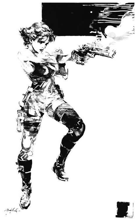 Meryl Black & White - Characters & Art - Metal Gear Solid