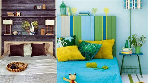 canapé d angle en palette une tête de lit en palette colorée femme magazine