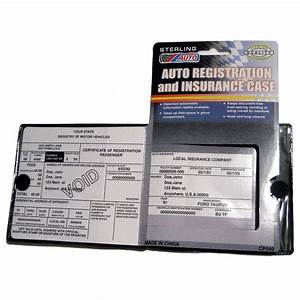 Auto car truck registration insurance document holder for Insurance document holder