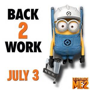 Despicable Me Minion Back to Work
