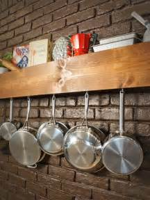 kitchen utensil storage ideas diy kitchen storage shelf and pot rack hgtv