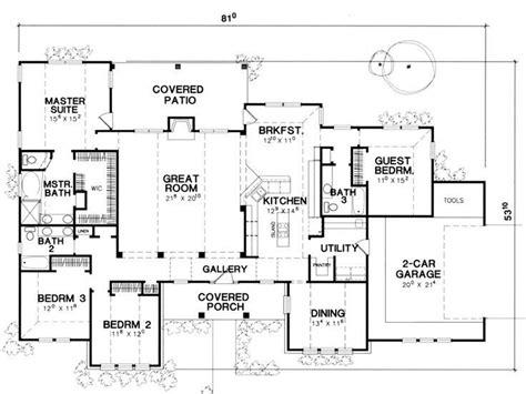 4 Bedroom Single Storey House Plans