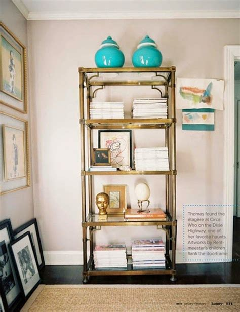 Etagere Decorating Ideas by The Midas Touch Gold Etagere Home Decor