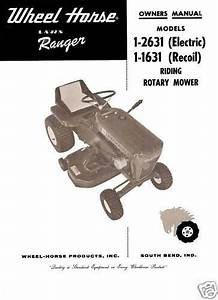 Wheel Horse Lawn Ranger Owners Manual No  1