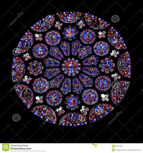 stained glass purple stained glass window chartres stock image image