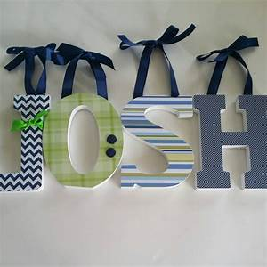 Wooden wall letters baby boy nursery decor navy blue and for Navy blue wall letters
