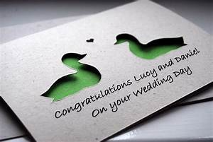 love ducks personalised hand cut card by ruby wren designs ...