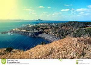 Landscape Of Jeju Island, South Korea Stock Photo