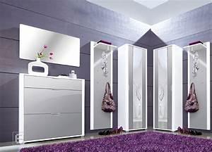 Kleiderschrank Grau Weiß : neu 6tlg hochglanz garderobe flurm bel schuhschrank kleiderschrank wei grau ebay ~ Markanthonyermac.com Haus und Dekorationen
