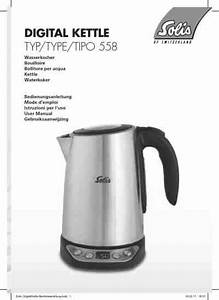 Solis Tipo 558 Electric Kettle Download Manual For Free