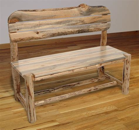 bench with back home wood furniture log benches rustic log furniture mountain hewn bench Rustic