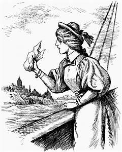 Woman Waiving Handkerchief | ClipArt ETC
