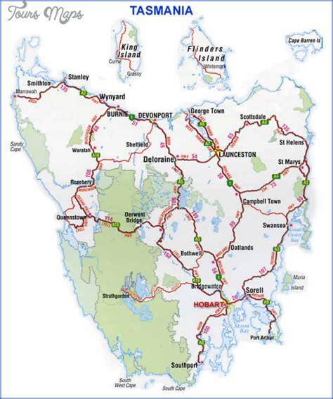 tasmania map toursmapscom
