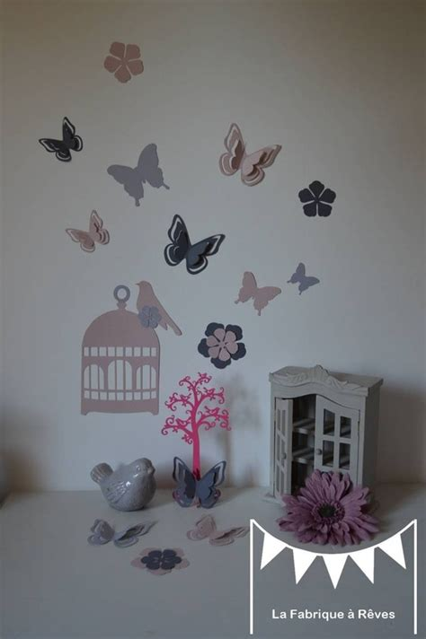 chambre fille papillon deco chambre fille theme papillon