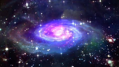 beautiful galaxy effect  space stock footage video