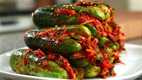 kimchi recipe cucumber kimchi recipe maangchi