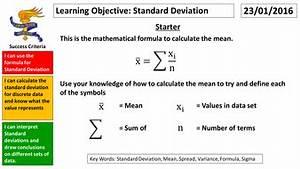 GCSE Statistics Standard Deviation by mikecraven ...