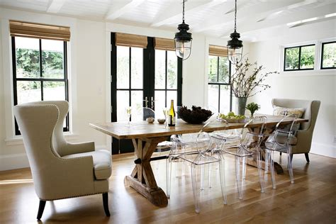 springtime rustic dining room