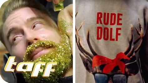 Glitzer Im Bart Und Ugly Christmas Sweater Die