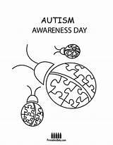 Coloring Autism Awareness Printable Template sketch template