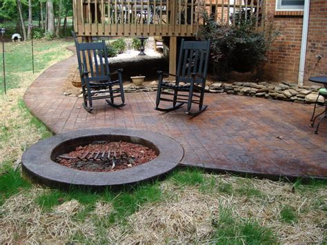 best concrete patio designs with pit 15 for your