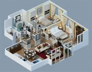 two story home designs plan maison 3d d 39 appartement 2 pièces en 60 exemples