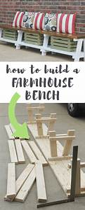 Simple, Diy, Farmhouse, Bench, Tutorial, With, Storage