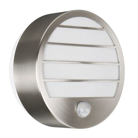 philips linz stainless steel outdoor wall light with pir