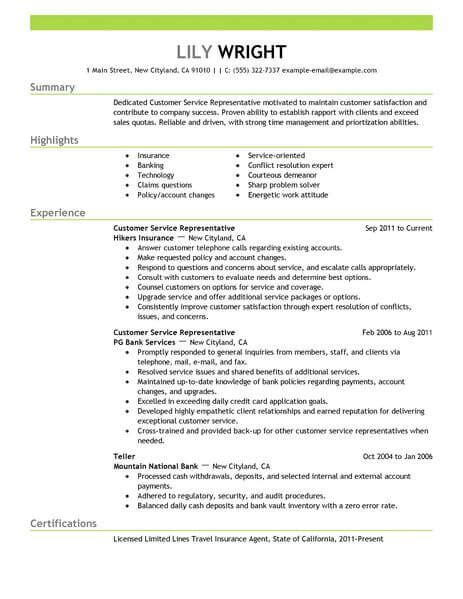 Sle Of Resume For Customer Service by Resume Exles 2018 Customer Service Customer