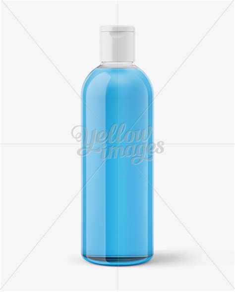 Free for personal and commercial use. Clear Plastic Bottle With Transparent Liquid Mockup in ...