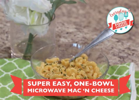 Super Easy One Bowl Microwave Macaroni And Cheese Store