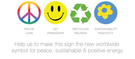 Sustainability Symbol  The Universal Symbol For Peace, Sustainable And Positive Energy Happy
