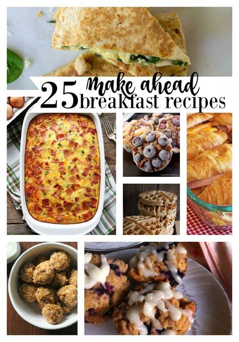 preschool lunch ideas 234 | 25 make ahead breakfast recipes