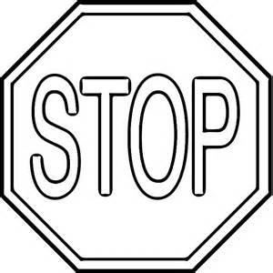 kolejny ze znakw drogowym czeka na dzieci - Stop Sign Coloring Page Printable