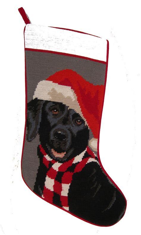 personalized dog breed christmas stocking needlepoint